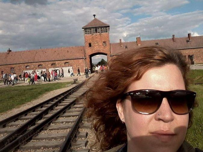 Em Birkenau, em Junho de 2014